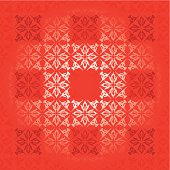 Shades of red square background with floral elements