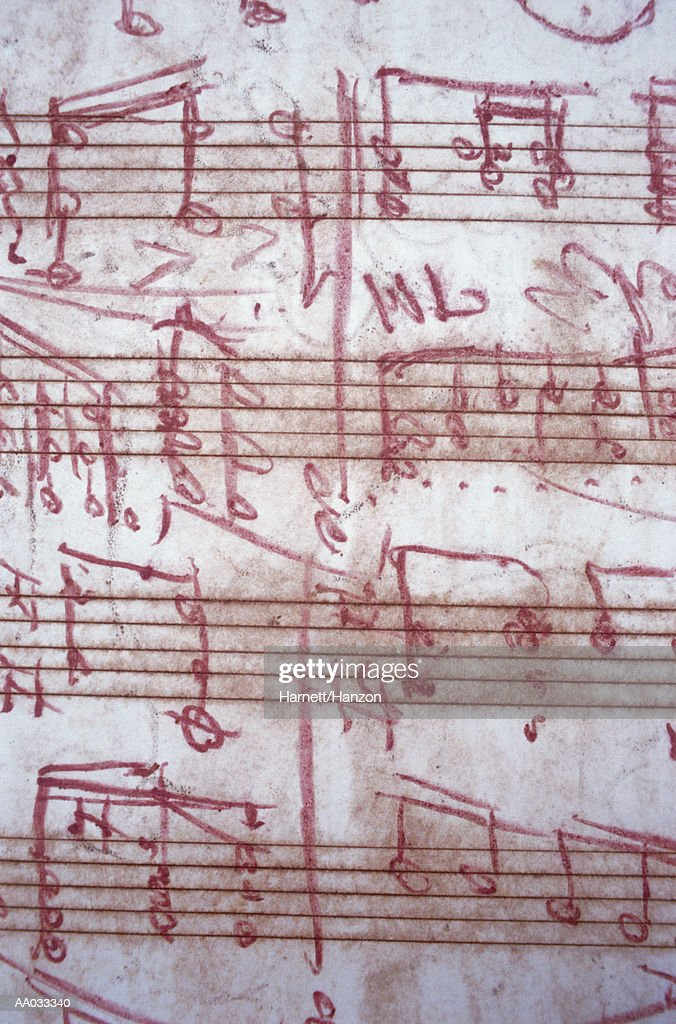 Sheet Music and Handwritten Notes : Stock Illustration