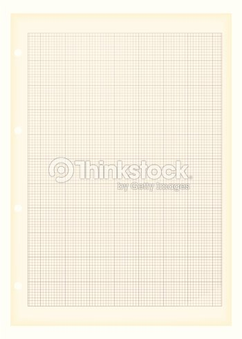 sheet of a4 graph paper with aged grunge illustration effect arte