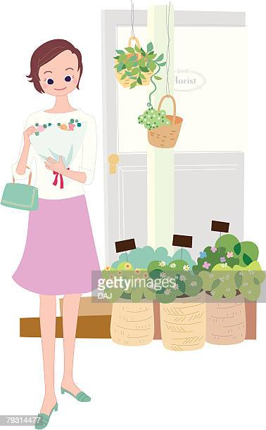 Shopping in the Flower Shop, Illustrative Technique