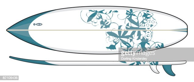 Shortboard : Stock Illustration