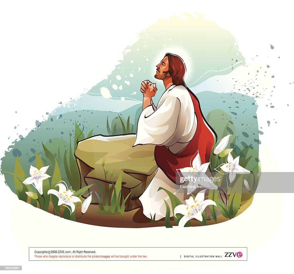 Side Profile Of Jesus Christ Praying Clipart vectoriel ...