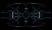 Element of the interface. A sight on a spaceship. The interface of the future. Touch panel. Game interface