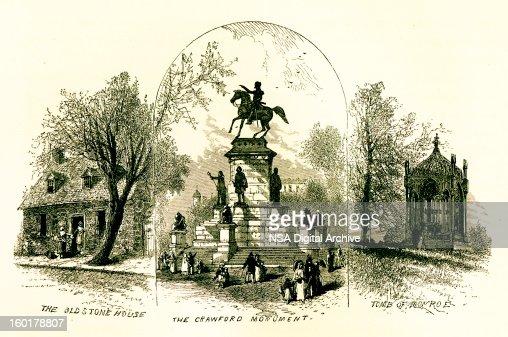 Sights from Richmond, Virginia : Stock Illustration