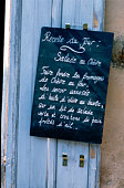 Sign in French on doorway