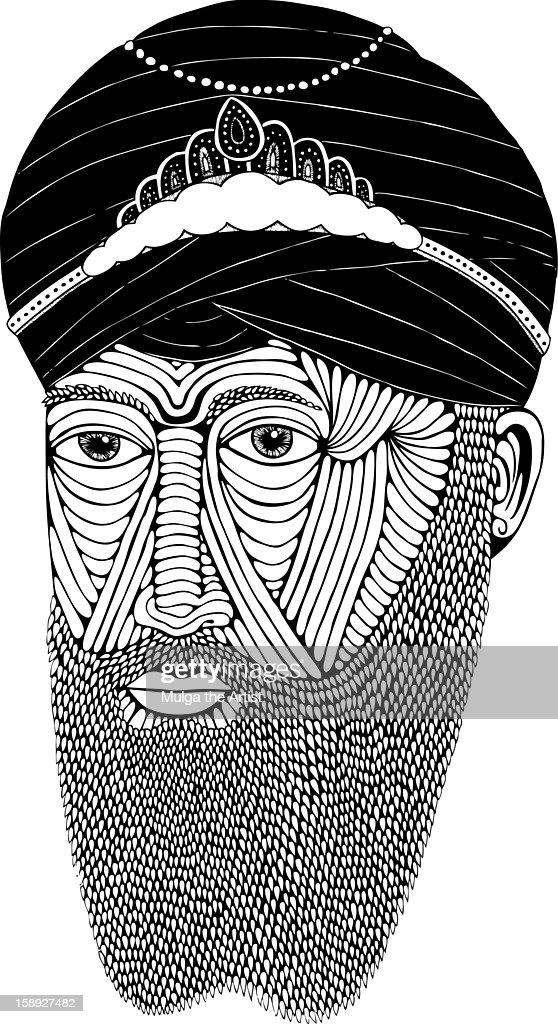 A Sikh man : Stock Illustration