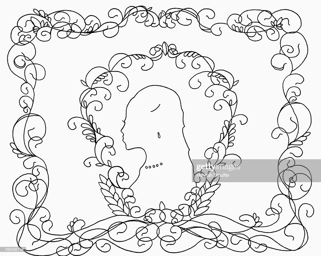 A silhouette of a woman : Stock Illustration