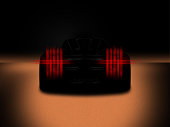 Silhouette of black sports car