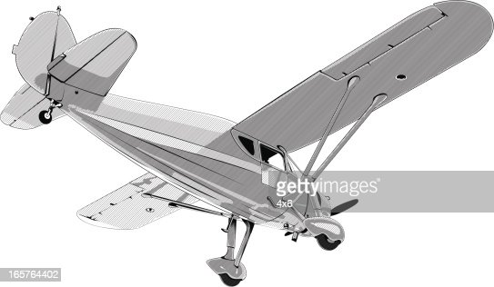 Single Engine Propeller Plane Vector Art | Getty Images