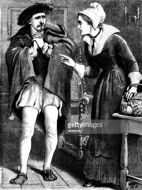 Sixteenth century Dutch woman berating a man