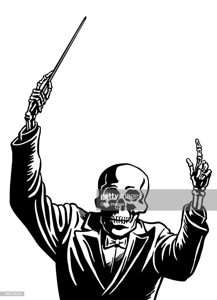 Skeleton Conductor : Stock Illustration