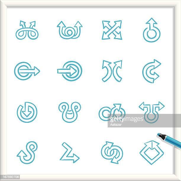 Sketch Icons - Arrows Swirly