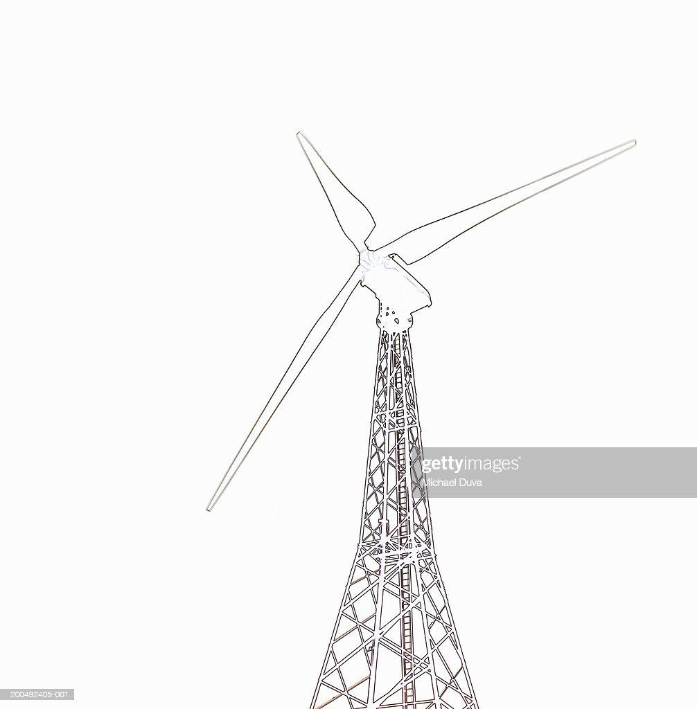 Sketch of wind turbine : Stock Illustration