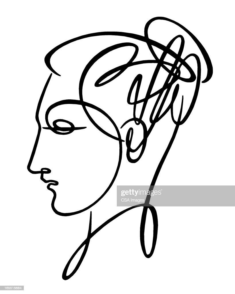 Sketch of Woman's Head : Stock Illustration