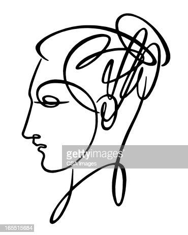 Sketch of Woman's Head : Stock Illustration