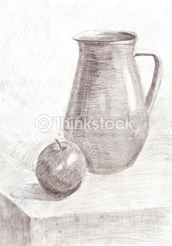 Croquis dessin au crayon nature morte illustration thinkstock - Dessin de nature morte ...