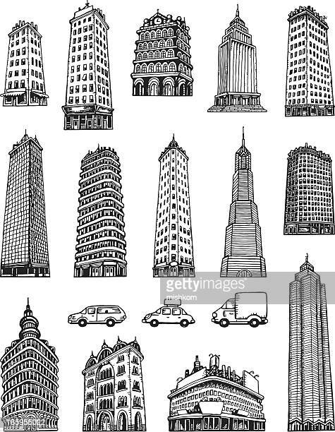 Sketched Buildings and Cars