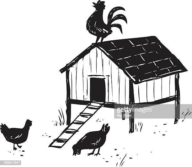 free clipart chicken coop - photo #8
