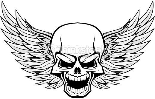 Skull With Angel Wings Vector Art Thinkstock