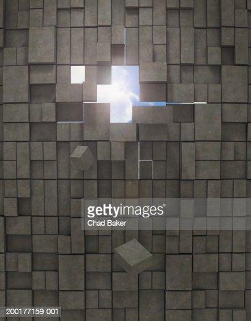 how to cut hole through brick wall