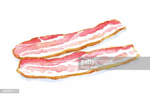 Slices of Bacon : Stock-Illustration