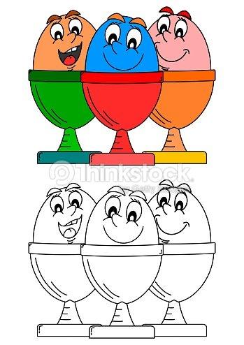 Sonriendo Huevos De Platos Como Para Colorear Books For Kids ...