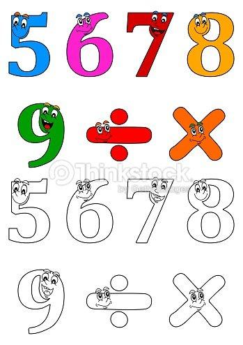 Sonriendo Para Colorear Números Como Libros Para Niños Pequeños ...