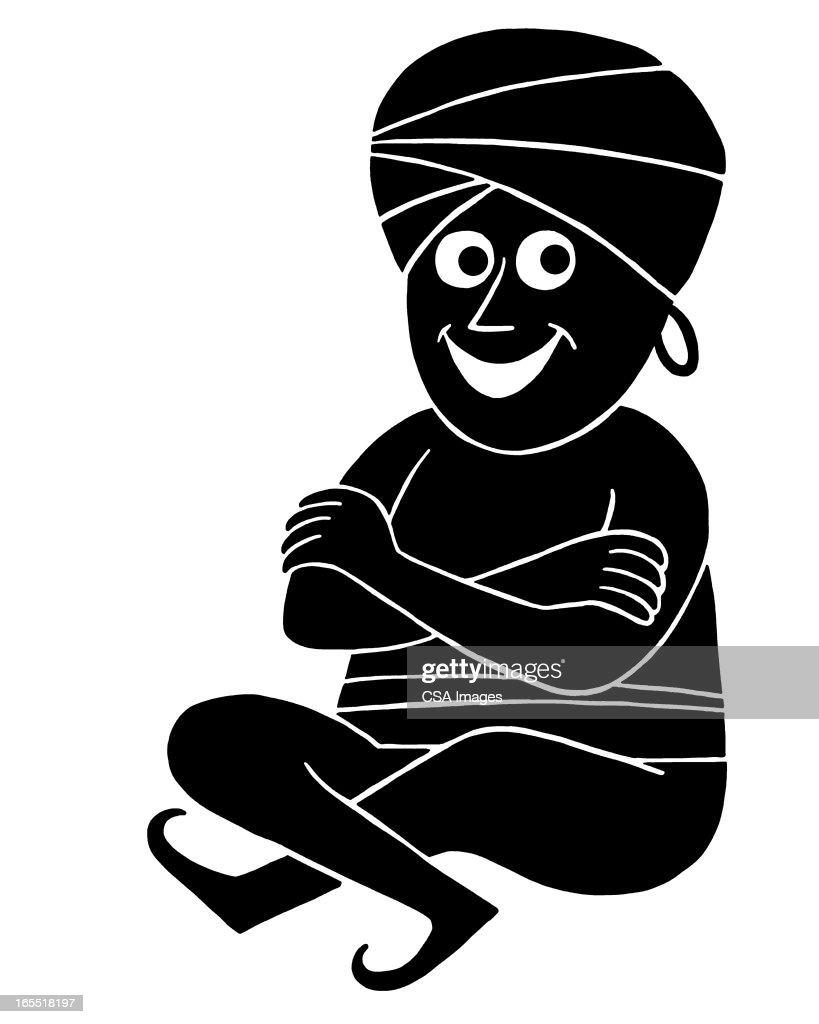 Smiling Yogi : Stock Illustration
