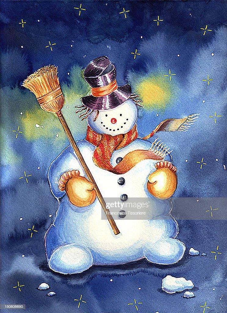 Snowman : Stock Illustration