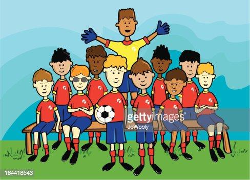soccer team vector art thinkstock