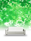 Sofa in forest