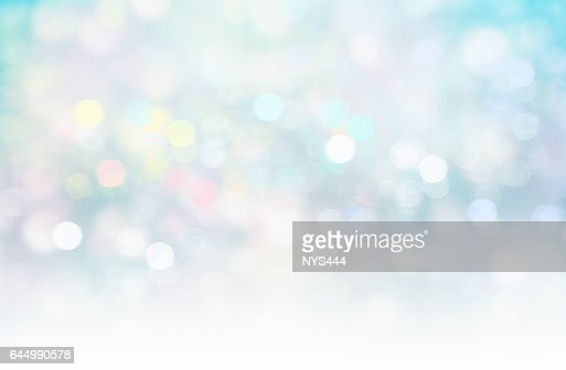Soft blurred lights glitter blue xmas fairy background. : Stock Illustration