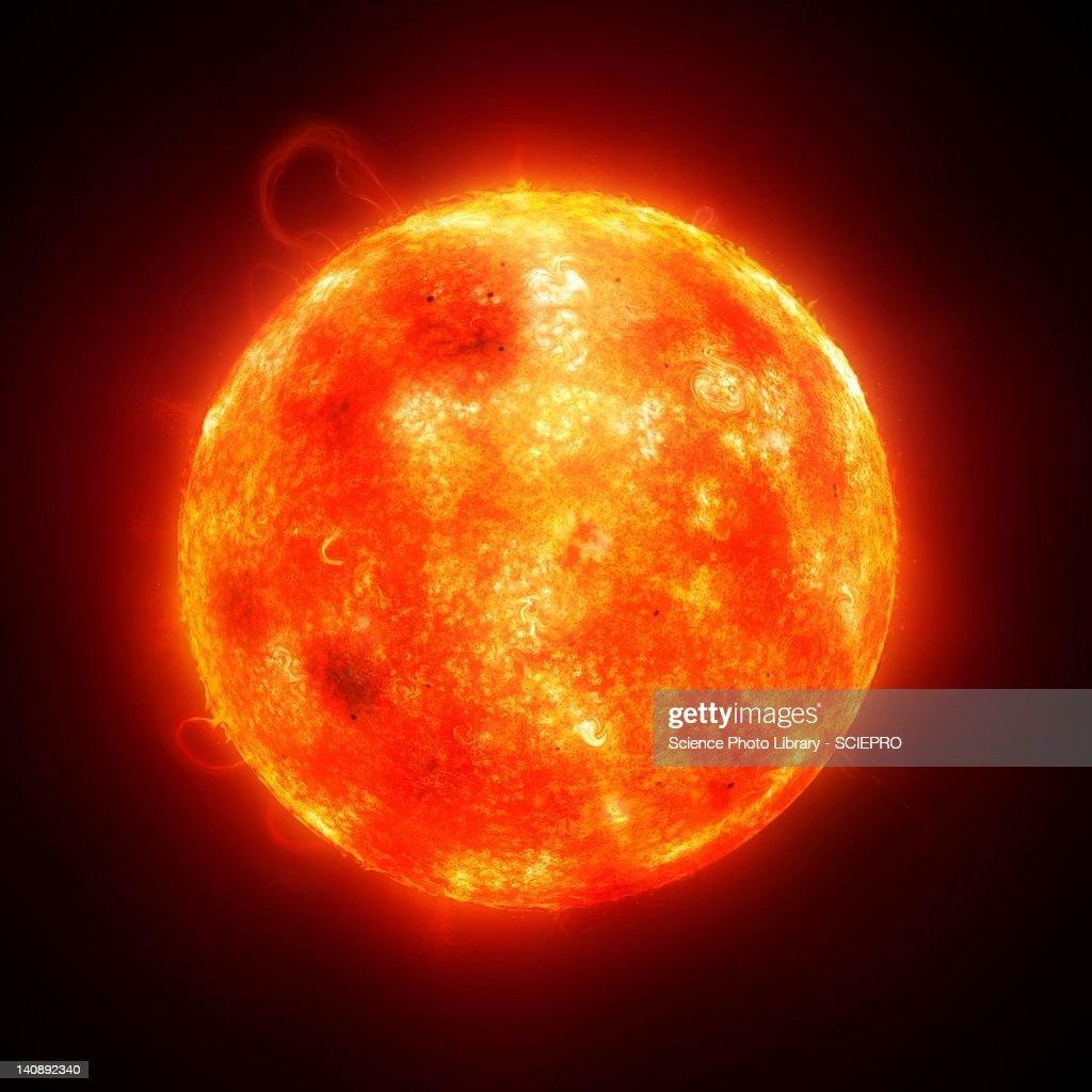 Solar activity, artwork : Stock Illustration