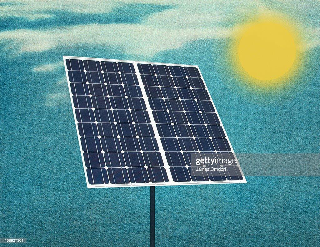 A solar panel : Stock Illustration
