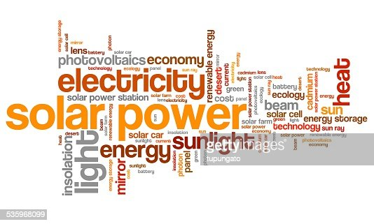 Solar power : Stock Illustration