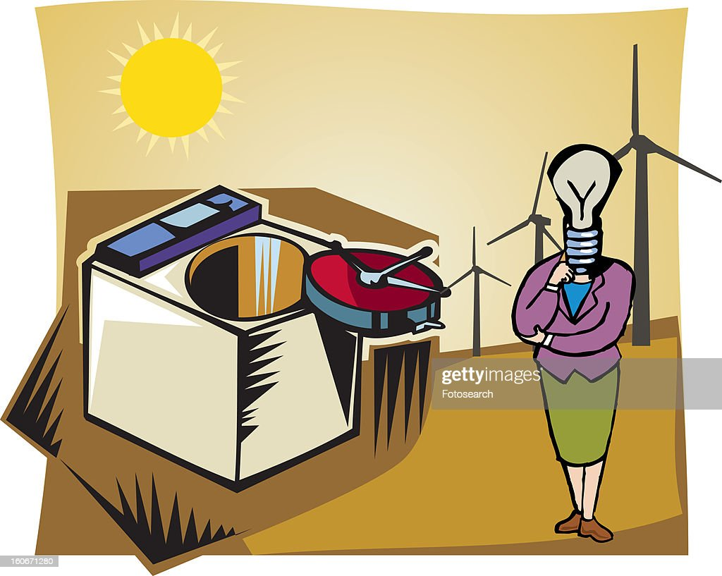 Sources of energy : Stock Illustration