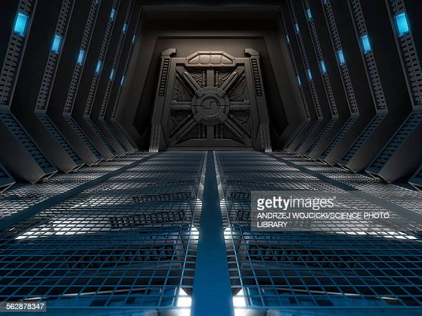 Space station interior, illustration