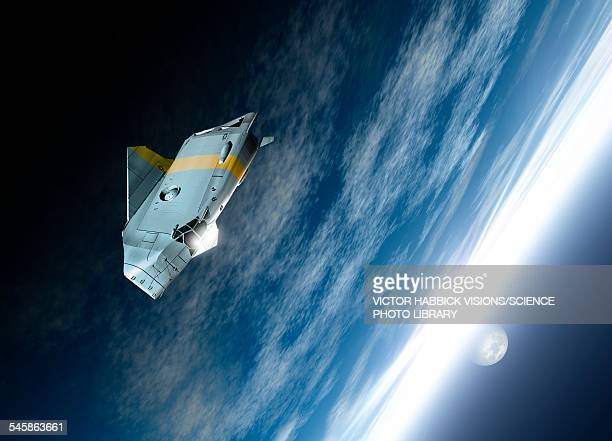 Spacecraft in Earths orbit, illustration