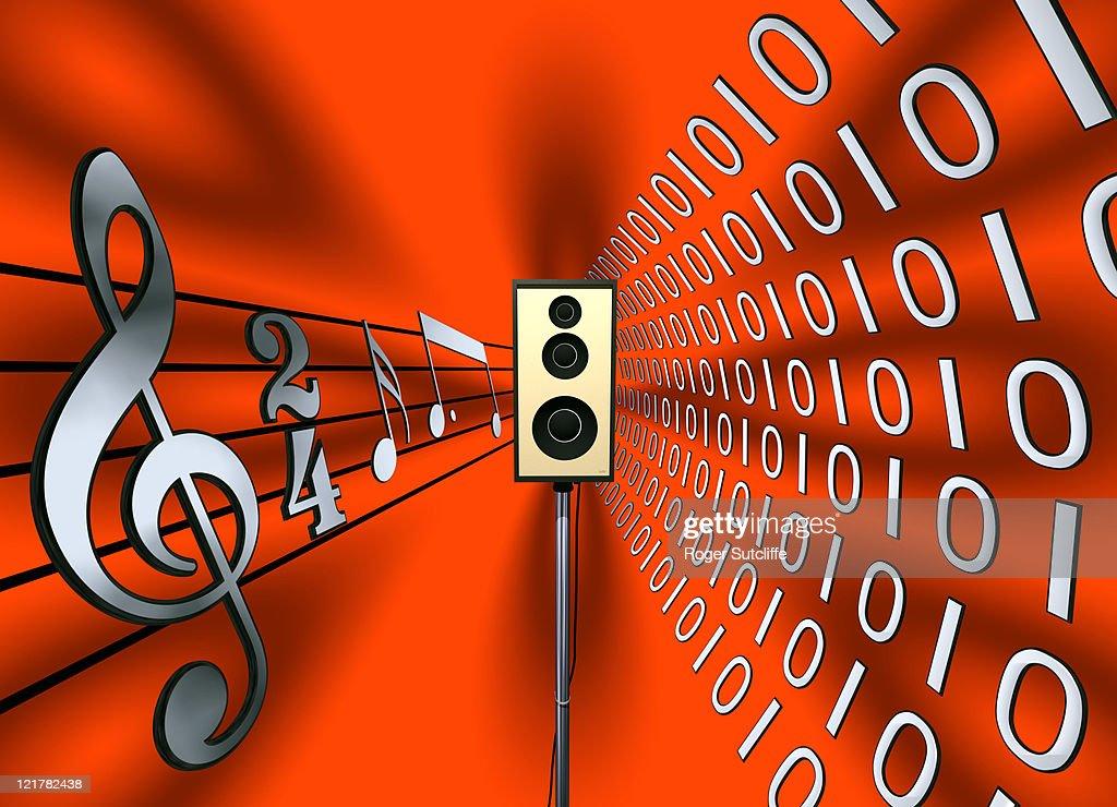 speaker, computer generated image : Ilustración de stock