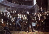 Speaker of the House of Representatives Henry Clay addressing the Senate