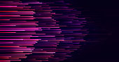 Speed lines technology Data connection abstract background. Network and futuristic concept. Energy Light and Digital stripes moving fast
