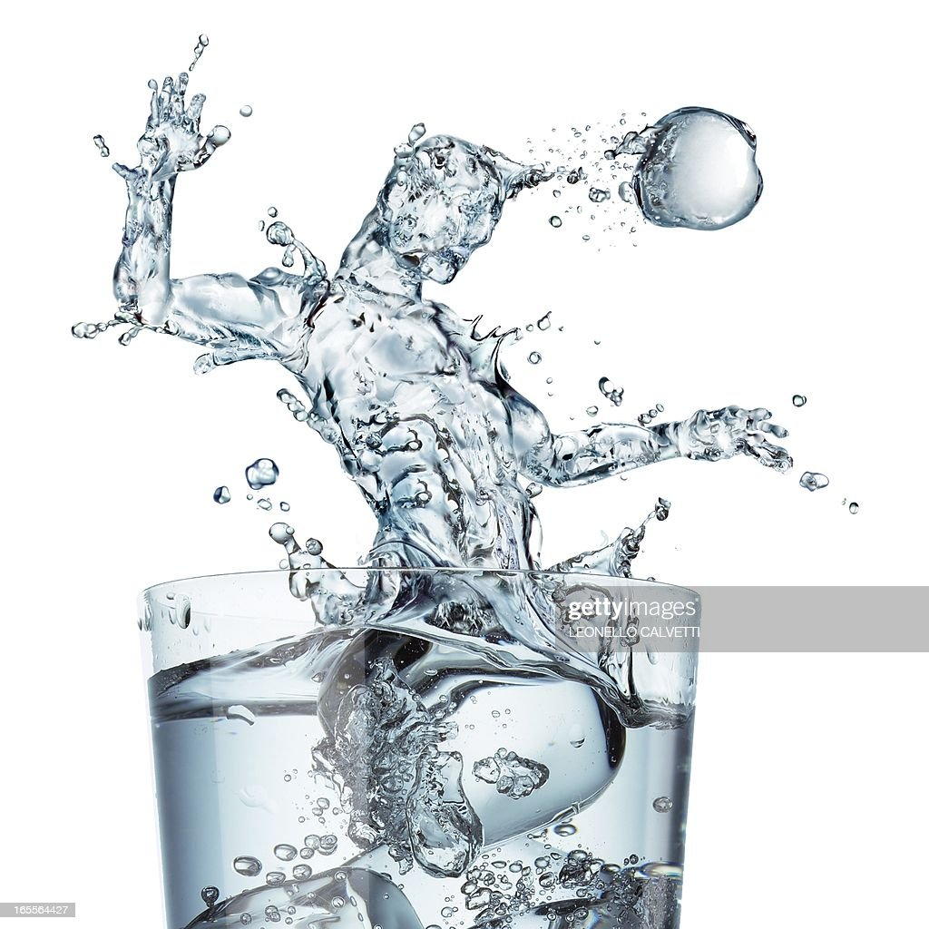 Sports hydration, conceptual artwork : Stock Illustration