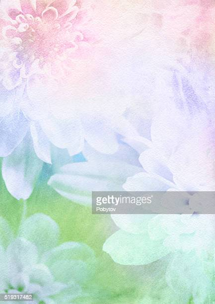 spring flower watercolor background