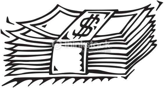 Line Drawing Money : Stack of currency money count your cash save big also