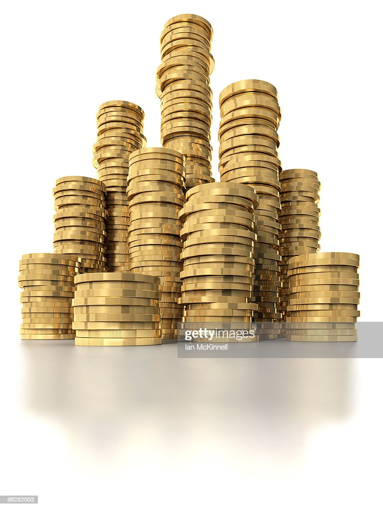 Stacks of coins : Stock Illustration