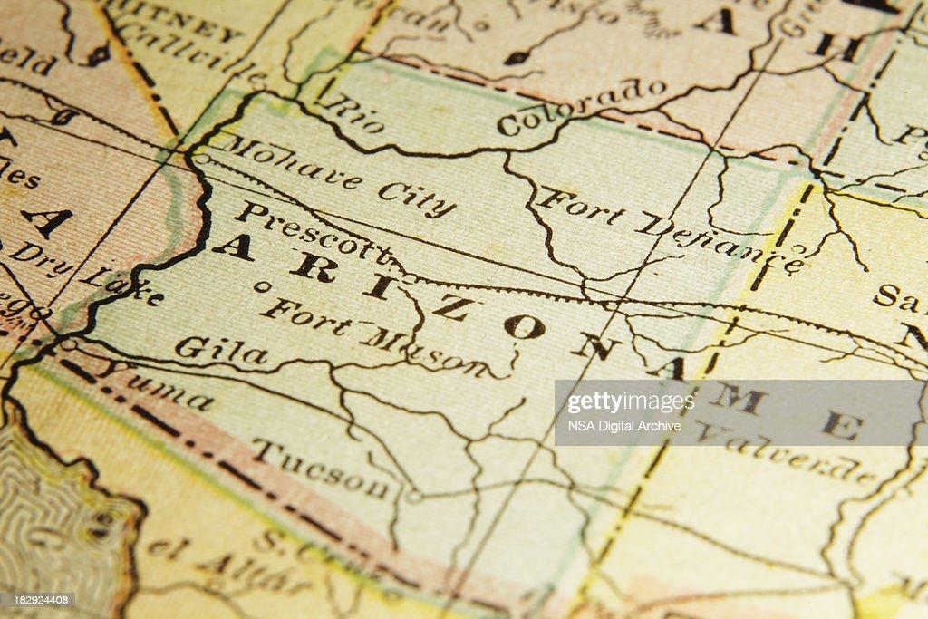 State Of Arizona Map Stock Illustration Getty Images - State of arizona map