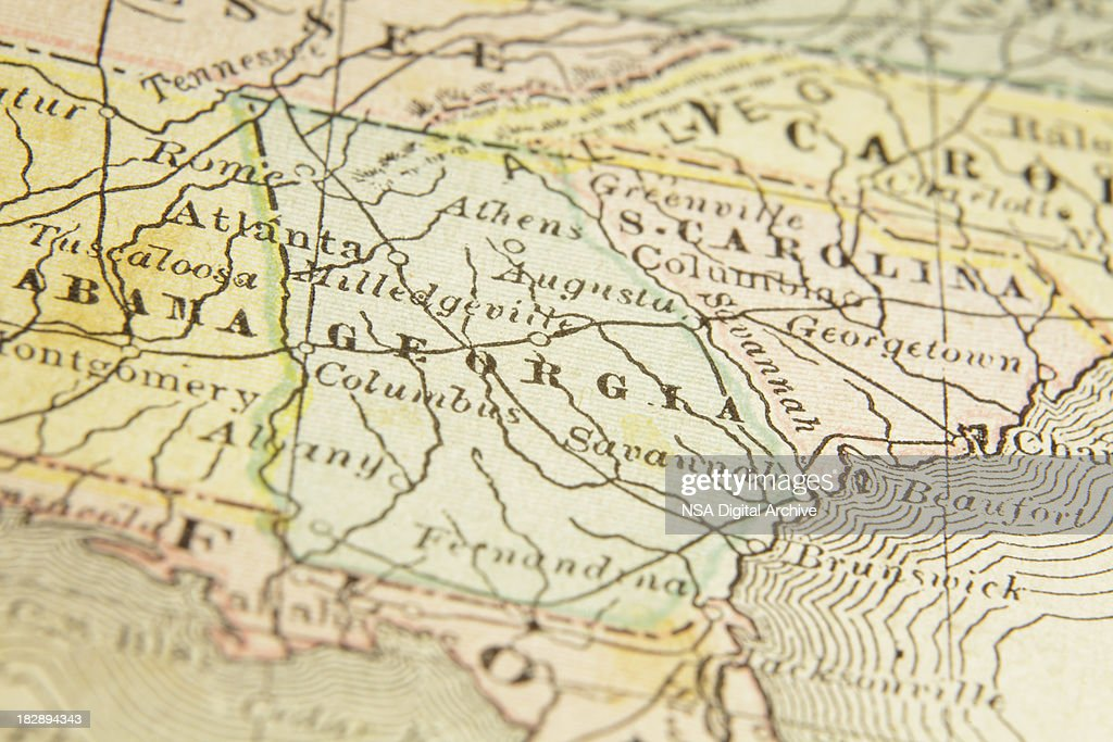 State Of Georgia Map Stock Illustration Getty Images - Georgia map state