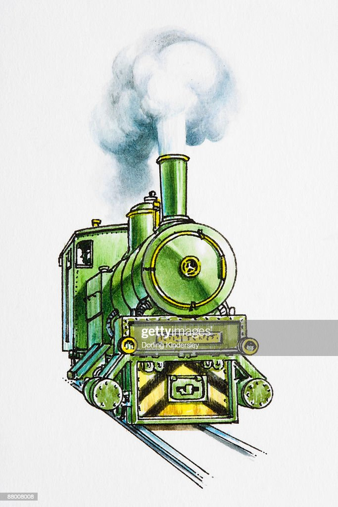 Steam Train Engine Stock Illustration | Getty Images