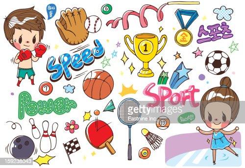 Sticker World : Stock Illustration