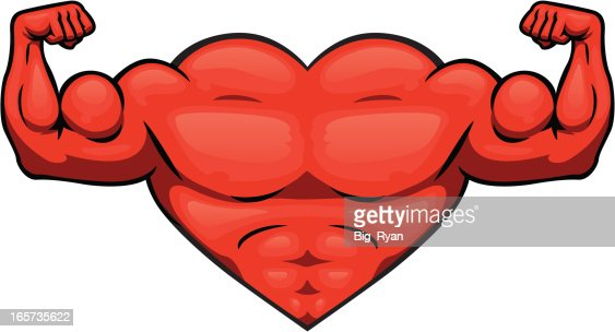 strong heart vector art getty images